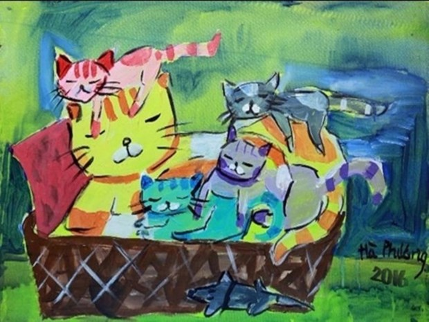 10 year-old artist opens solo show hinh anh 1