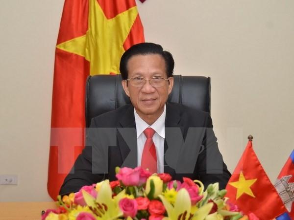 Vietnamese ambassador bids farewell to Cambodian leader hinh anh 1