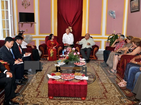 Vietnamese Fatherland Front delegation visits Cuba hinh anh 1