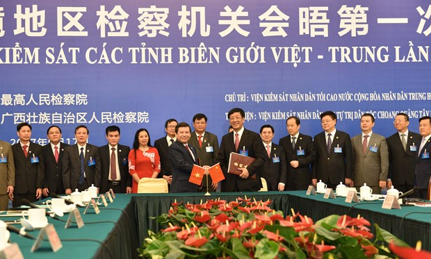 Procuracies of Vietnam-China border provinces foster cooperation hinh anh 1