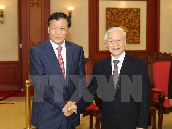Vietnam always treasures ties with China: Party chief hinh anh 1