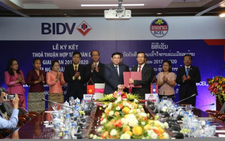 BIDV, Lao foreign trade bank beef up cooperation hinh anh 1