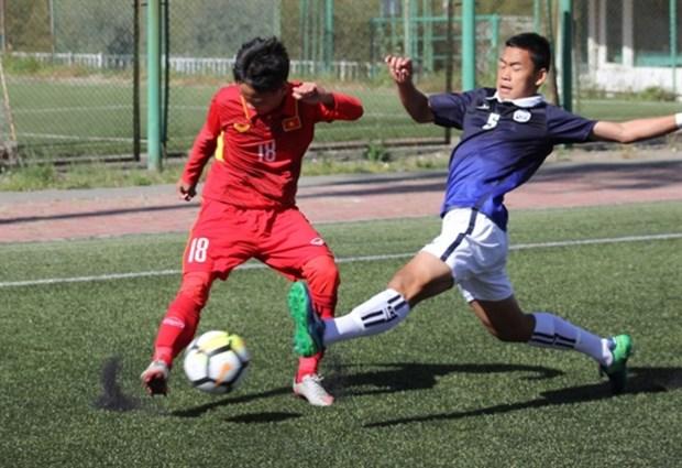 U16 qualifier: VN's 10 men beat Cambodia 5-2 hinh anh 1