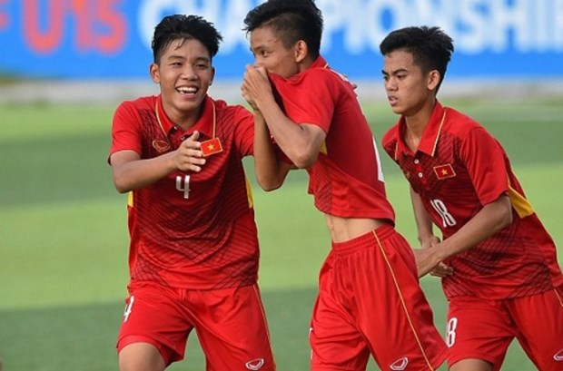 Asian U16 qualifier: VN beat Mongolia 9-0 hinh anh 1