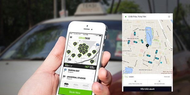 Traditional taxi firms turn to technology hinh anh 1