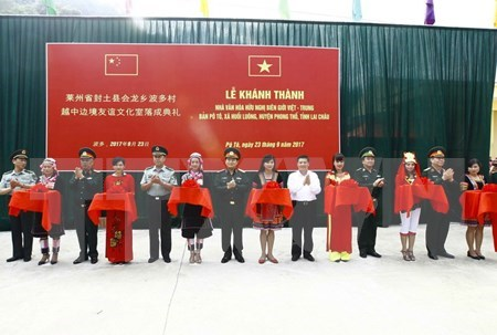 Vietnam-China border friendship cultural house inaugurated in Lai Chau hinh anh 1