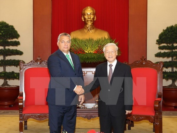 Party General Secretary Nguyen Phu Trong hosts Hungarian PM hinh anh 1