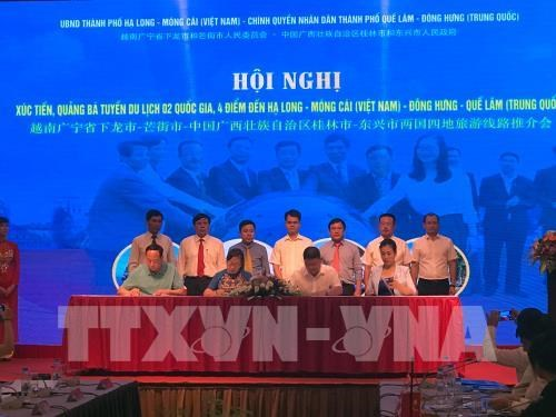 Quang Ninh fosters tourism cooperation with Chinese locality hinh anh 1
