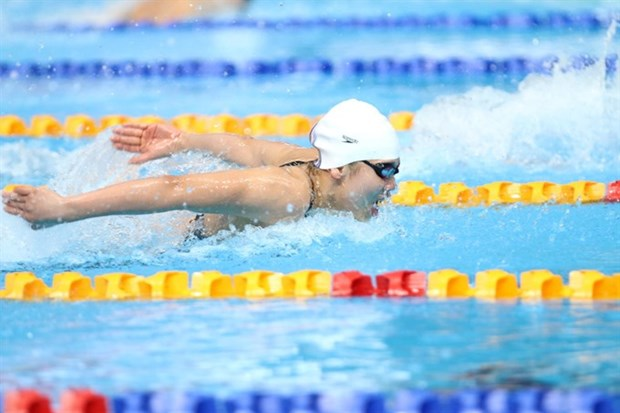 Vien wins another gold, breaks AIMAG record hinh anh 1