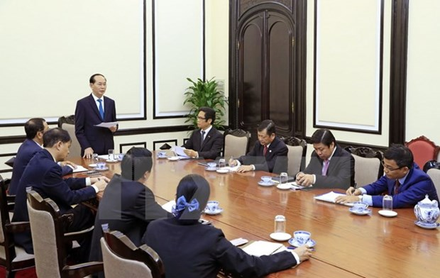 President Tran Dai Quang meets ABAC Vietnam leaders hinh anh 1