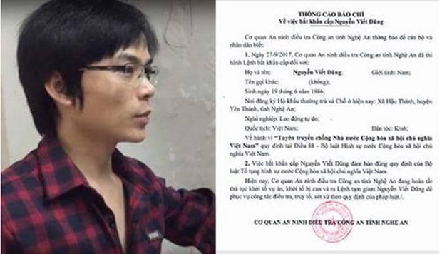Man arrested for propaganda against State hinh anh 1