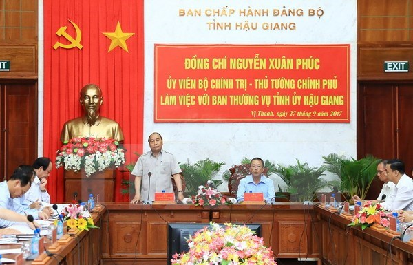 PM suggests Hau Giang develop smart agriculture hinh anh 1
