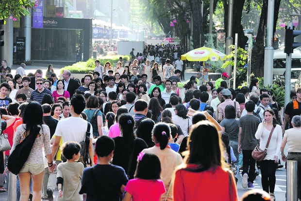 Singapore's population growth hits lowest rate in 10 years hinh anh 1