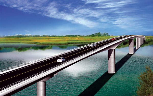 Nam Dinh: Work begins on Thinh Long bridge over Ninh Co River hinh anh 1