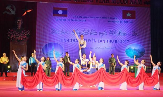 Thai Nguyen hosts Vietnam-Laos friendship singing festival hinh anh 1