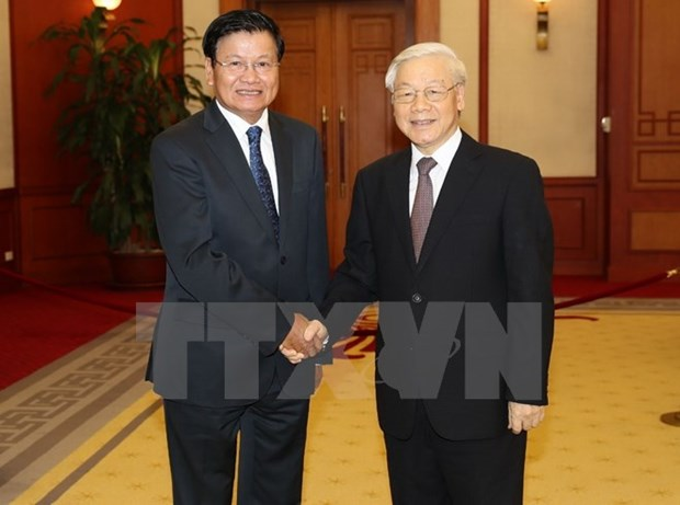 Party chief requests stronger Vietnam-Laos trade, connectivity hinh anh 1