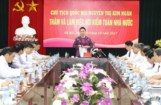 NA leader: State Audit joins fights against corruption and waste hinh anh 1