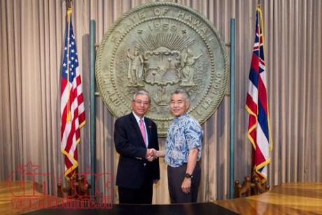 Vietnamese Ambassador to US active in Hawaii hinh anh 1
