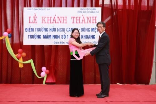 Canon Vietnam builds kindergarten in mountainous province hinh anh 1