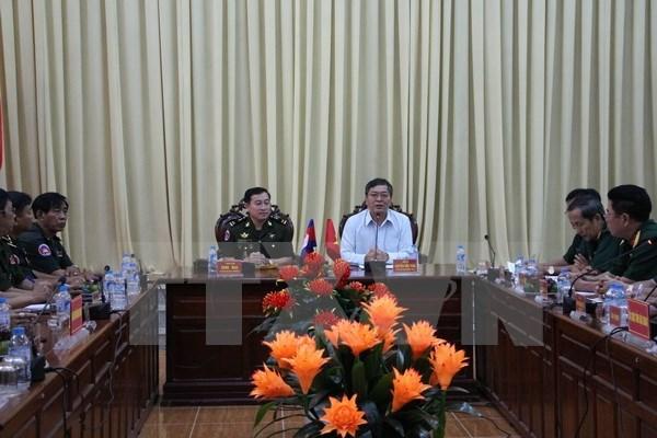 Cambodian military delegation visits Hau Giang hinh anh 1