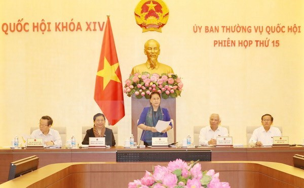 NA Standing Committee convenes 15th session hinh anh 1