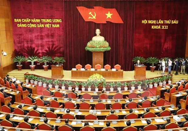 Party Central Committee wraps up sixth session hinh anh 1