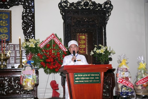 Cao Dai sect celebrates 91st founding anniversary hinh anh 1