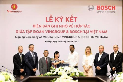 Bosch becomes VINFAST's supplier of automotive parts hinh anh 1