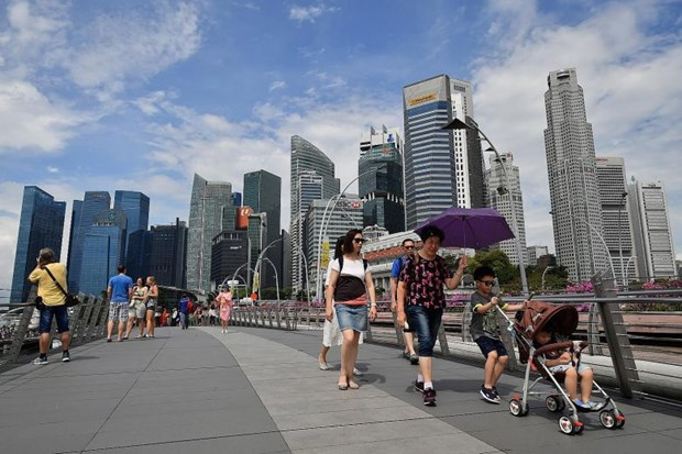 Singapore records high economic growth in three years hinh anh 1