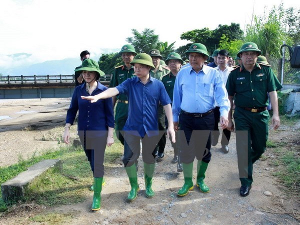 Deputy PM inspects flood, landslide-hit areas in Yen Bai hinh anh 1