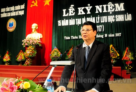 Nearly 1,100 Lao students trained in Thua Thien-Hue hinh anh 1