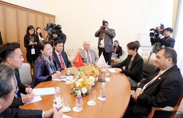 Top legislator meets IPU President in Saint Petersburg hinh anh 1