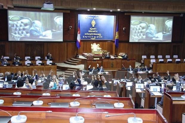 Cambodian NA passes amendments to election laws hinh anh 1