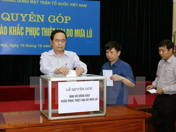 VFF calls for community's support to flood-hit people hinh anh 1