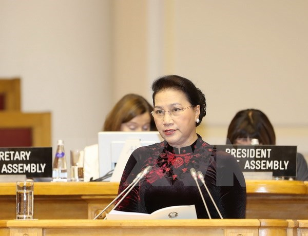 NA Chairwoman begins official visit to Kazakhstan hinh anh 1