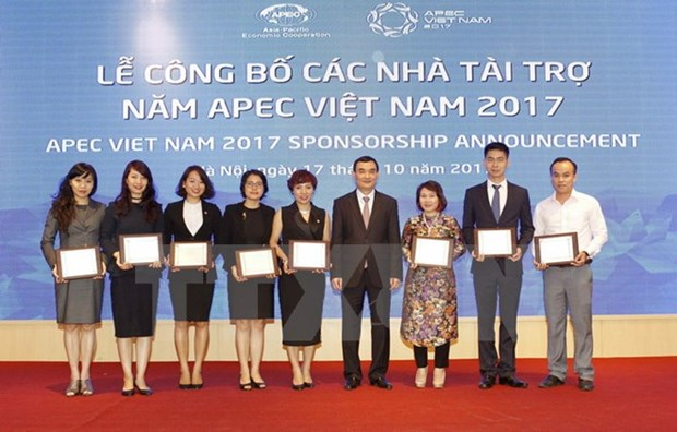 Sponsors of APEC 2017 events announced hinh anh 1