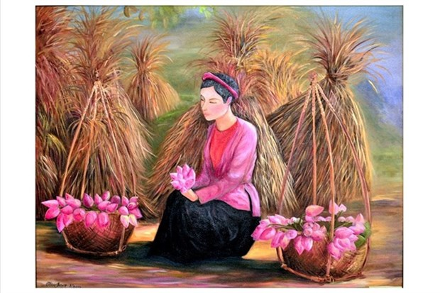 Painting exhibition celebrates Women's Day hinh anh 1