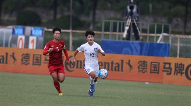 Vietnam loses 0-5 to RoK at AFC U19 women's champs hinh anh 1