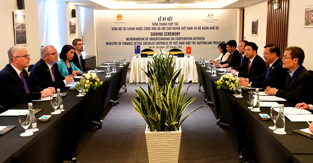 Vietnam, Australia sign MoU on financial cooperation hinh anh 1