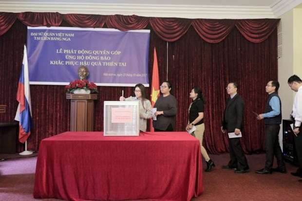 Vietnamese Embassy in Russia raises funds for flood victims hinh anh 1