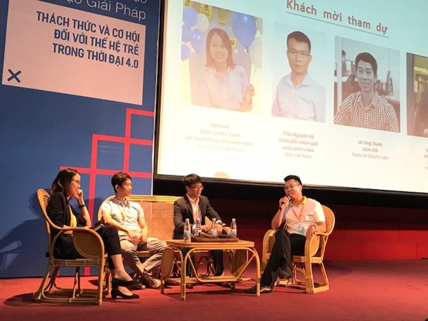 YouthSpeak Forum 2017 discusses sustainable employment goal hinh anh 1