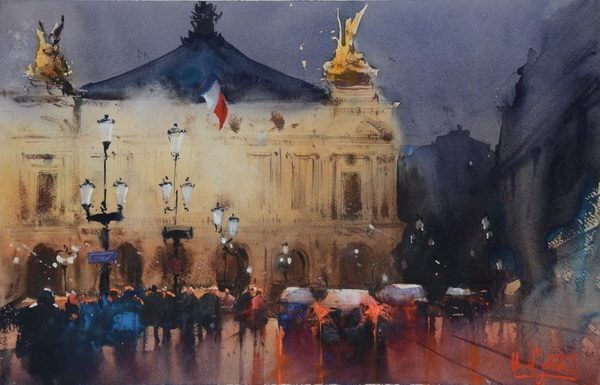 Hanoi hosts 2nd int'l watercolour painting exhibition hinh anh 1