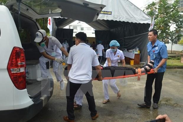 APEC 2017: Da Nang holds emergency responding drill hinh anh 1