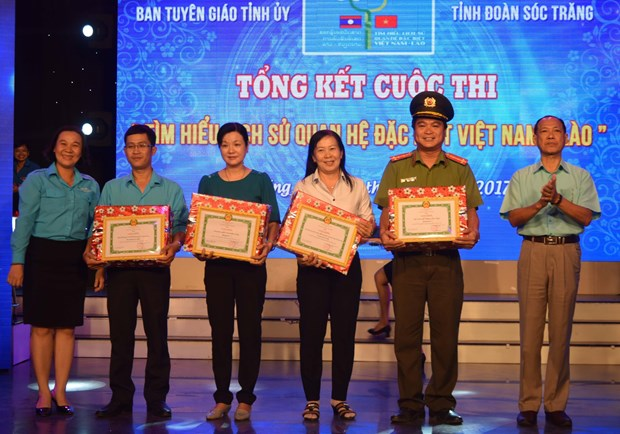 Soc Trang reviews contest on Vietnam-Laos special friendship hinh anh 1
