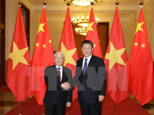 Vietnam congratulates General Secretary of Communist Party of China hinh anh 1