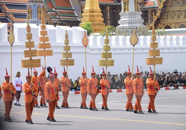 Thailand grieves former king at cremation ceremony hinh anh 1