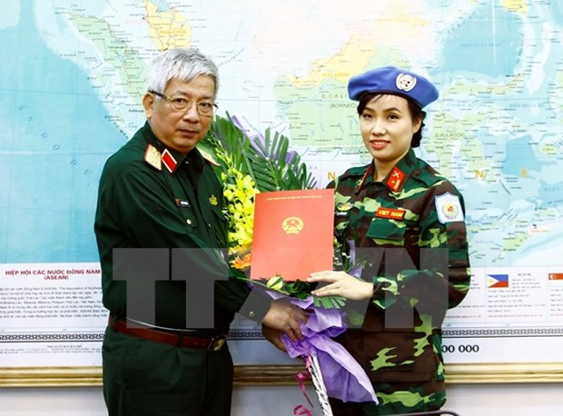 Vietnam sends first female officer to UN peacekeeping mission hinh anh 1
