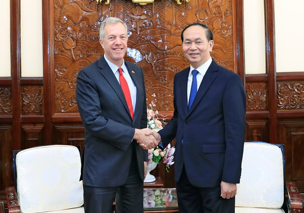 Outgoing US Ambassador bids farewell to President hinh anh 1