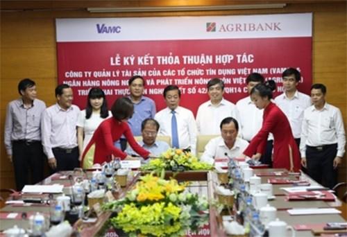 Agribank, VAMC coordinate in settling bad debts hinh anh 1
