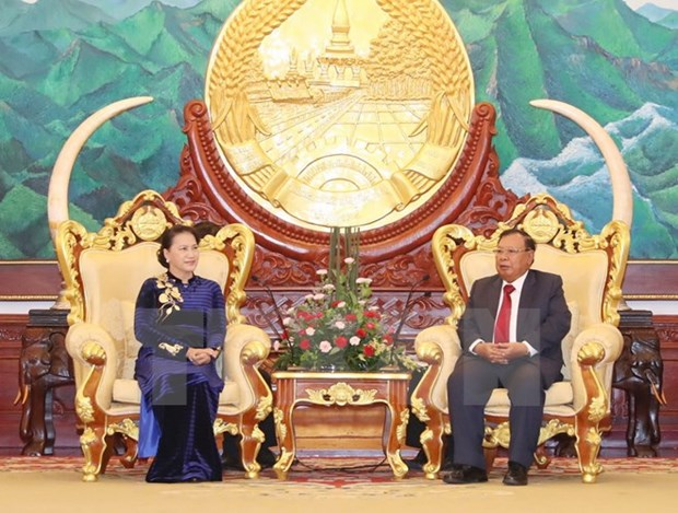 NA Chairwoman pays courtesy call on top Lao leader hinh anh 1